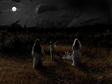 Ritual Circle Under a Full Moon