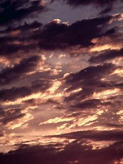 Clouds in a Sunset Sky