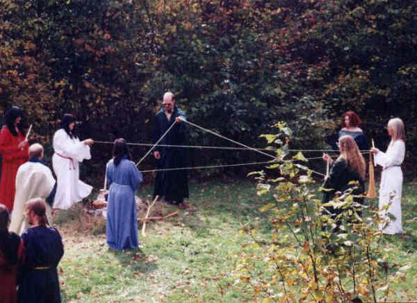 Handfasting Ritual Circle: The Pentagram